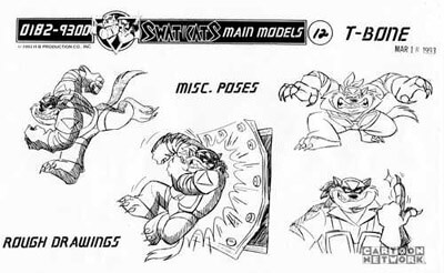 T-Bone / Chance Furlong Model Sheets Gallery