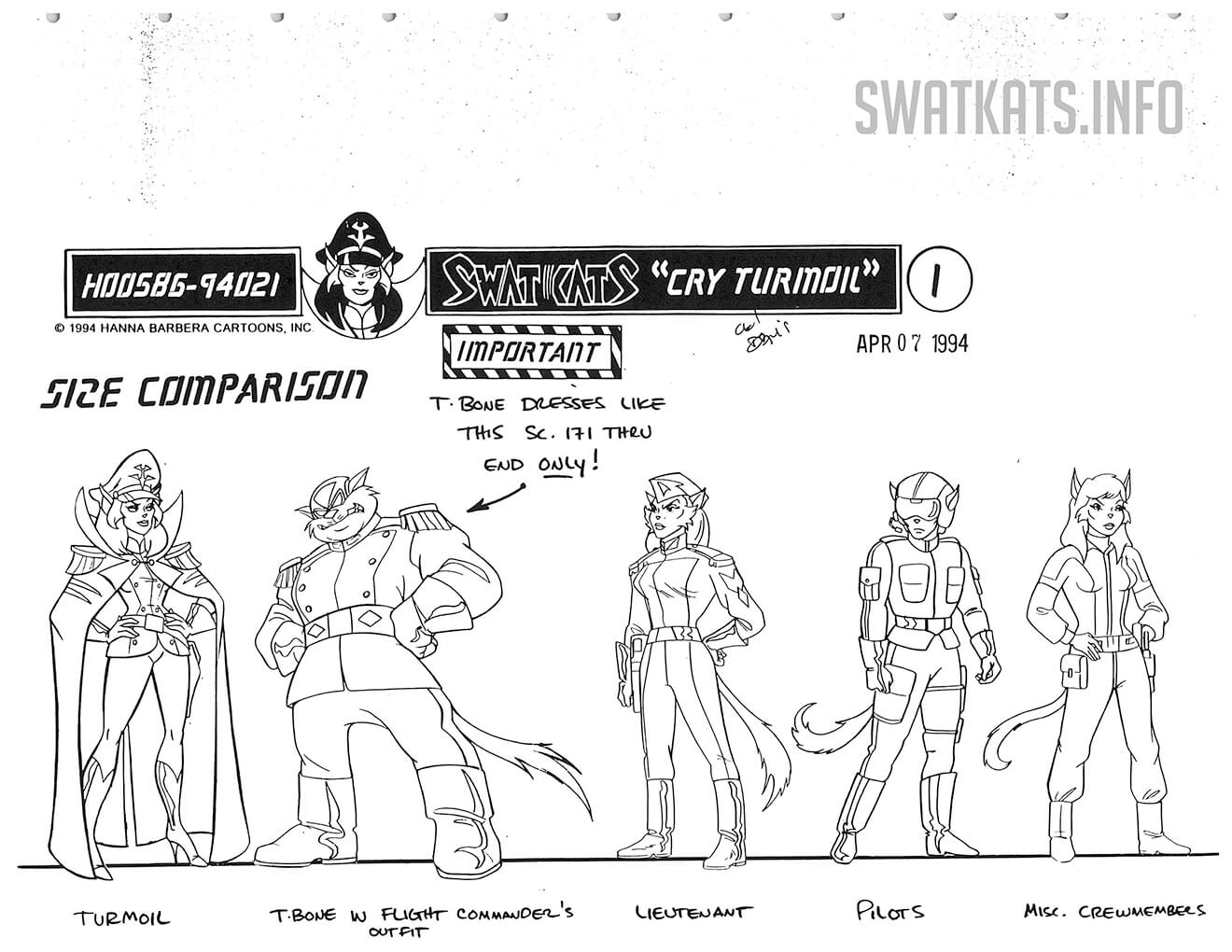 Cry Turmoil Model Sheets Gallery