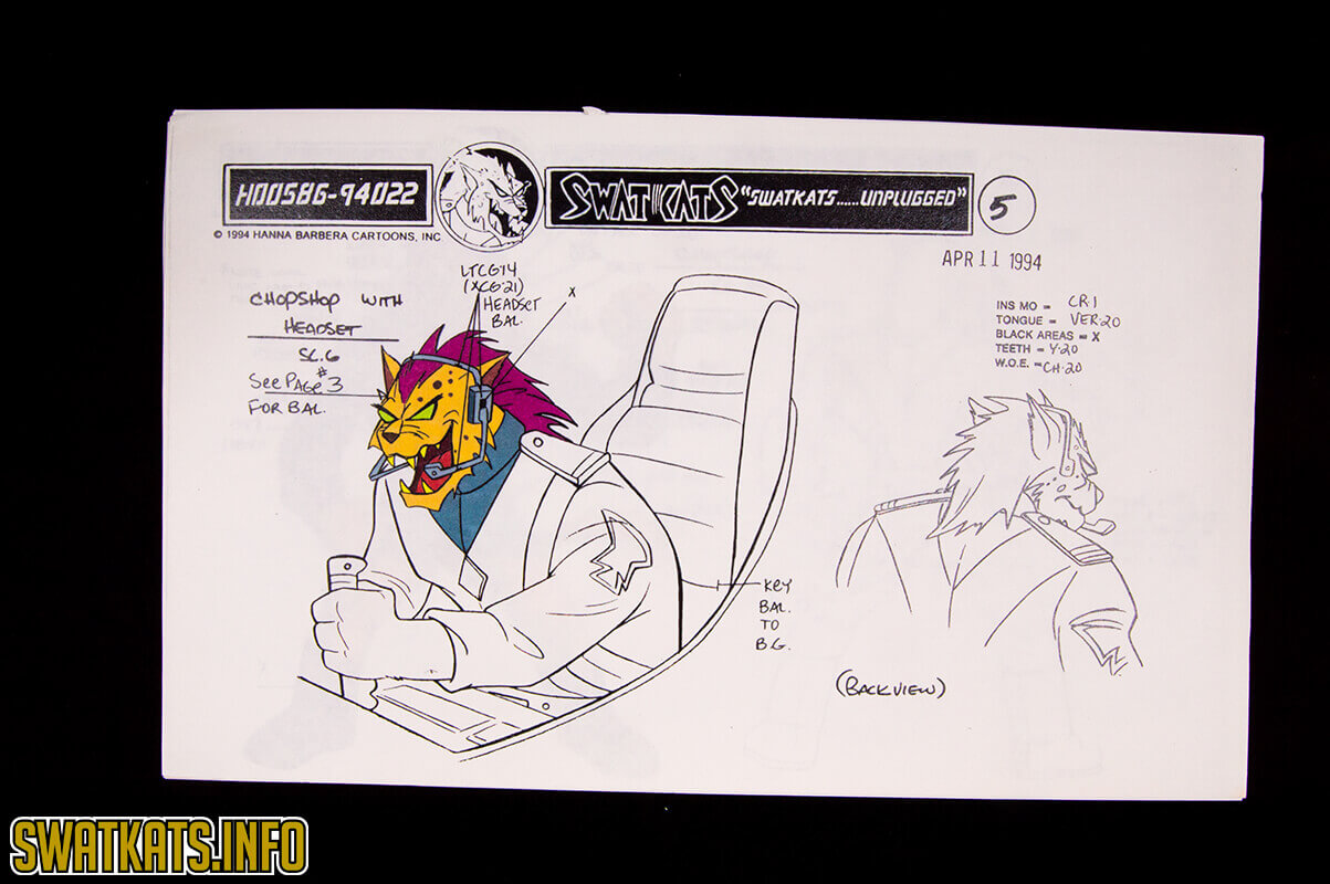 SWAT Kats Unplugged Model Sheets Gallery