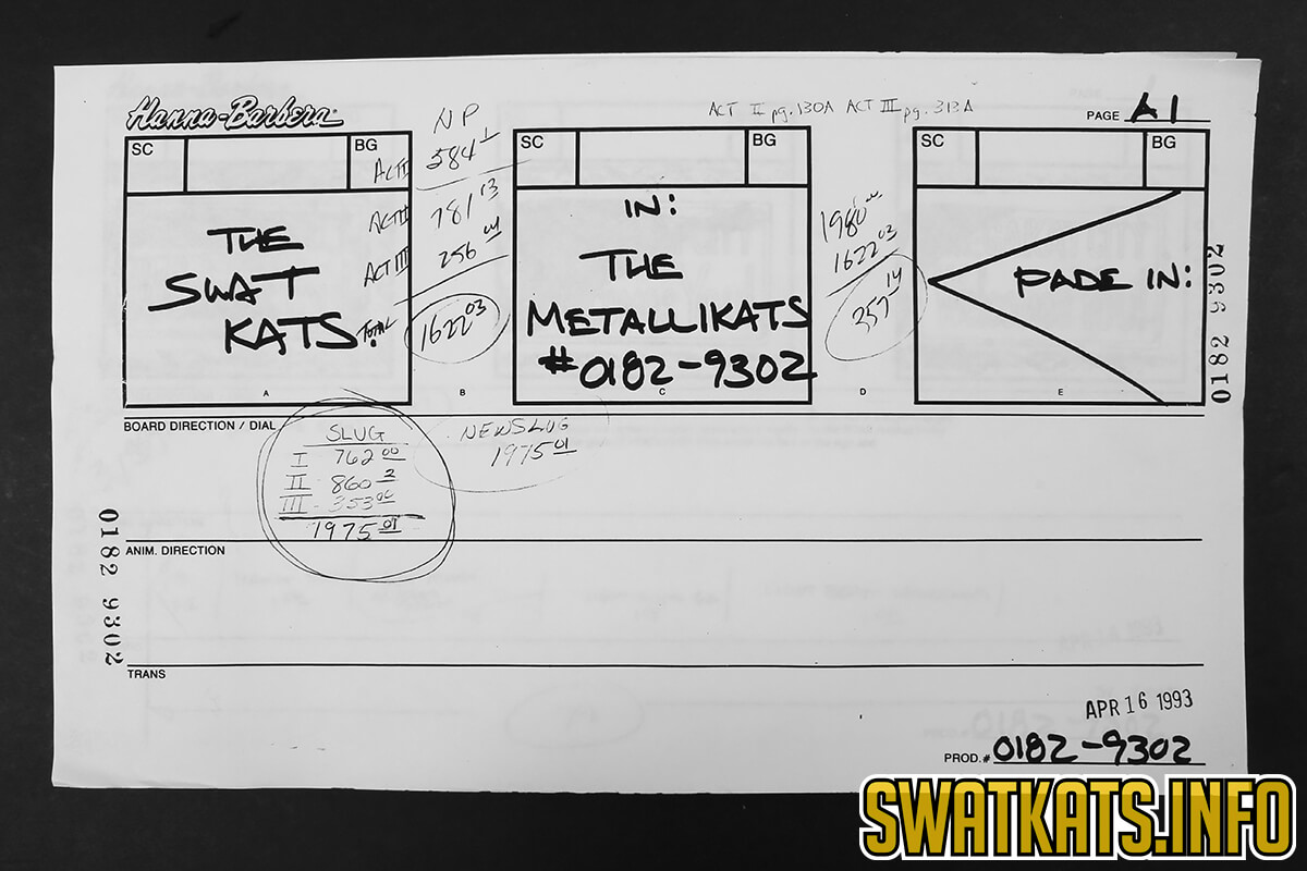 The Metallikats Story Boards Gallery