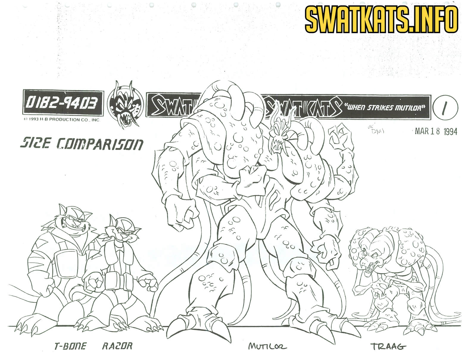 When Strikes Mutilor Model Sheets Gallery